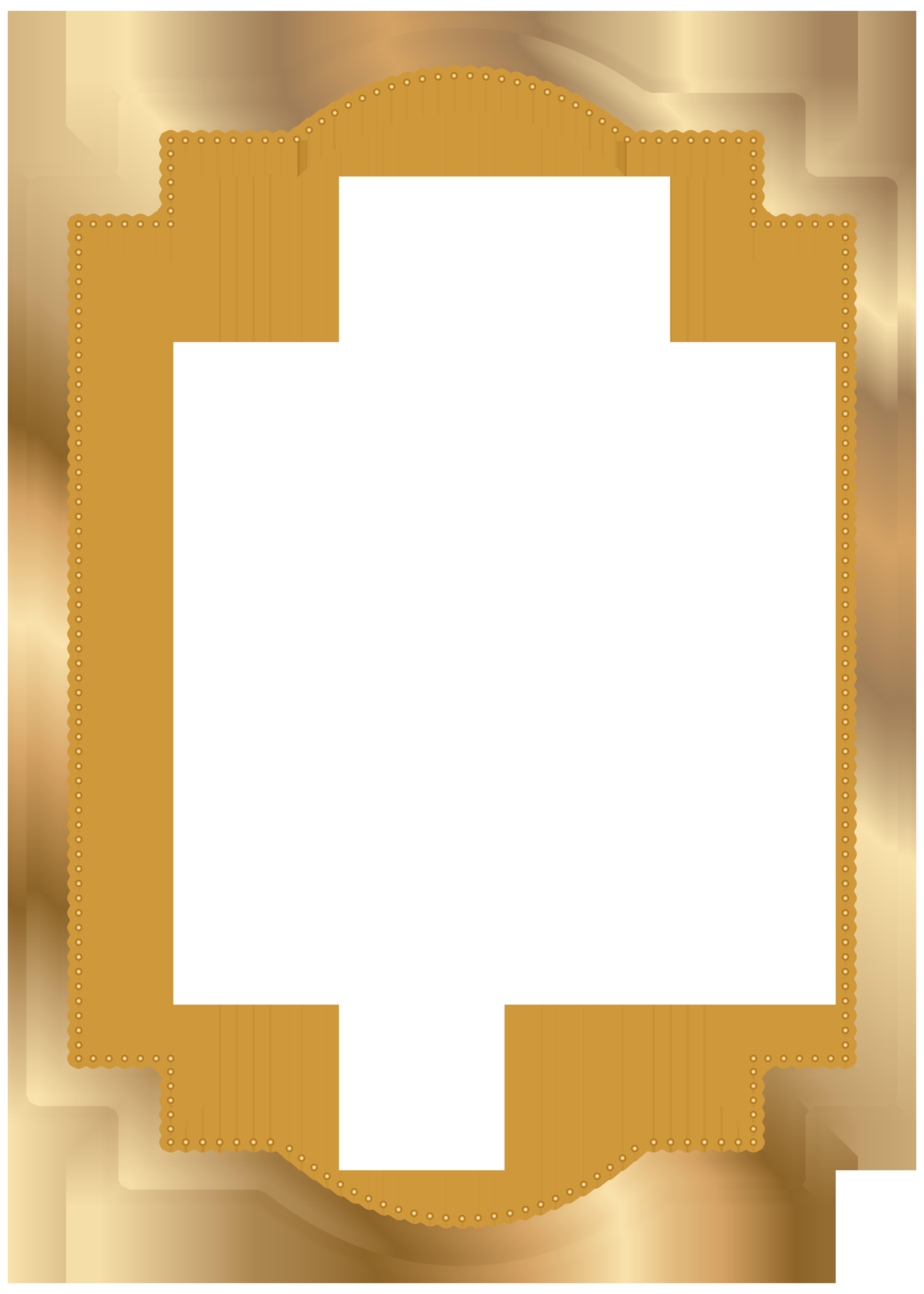 Ladybugs clipart border. Frame gold transparent clip