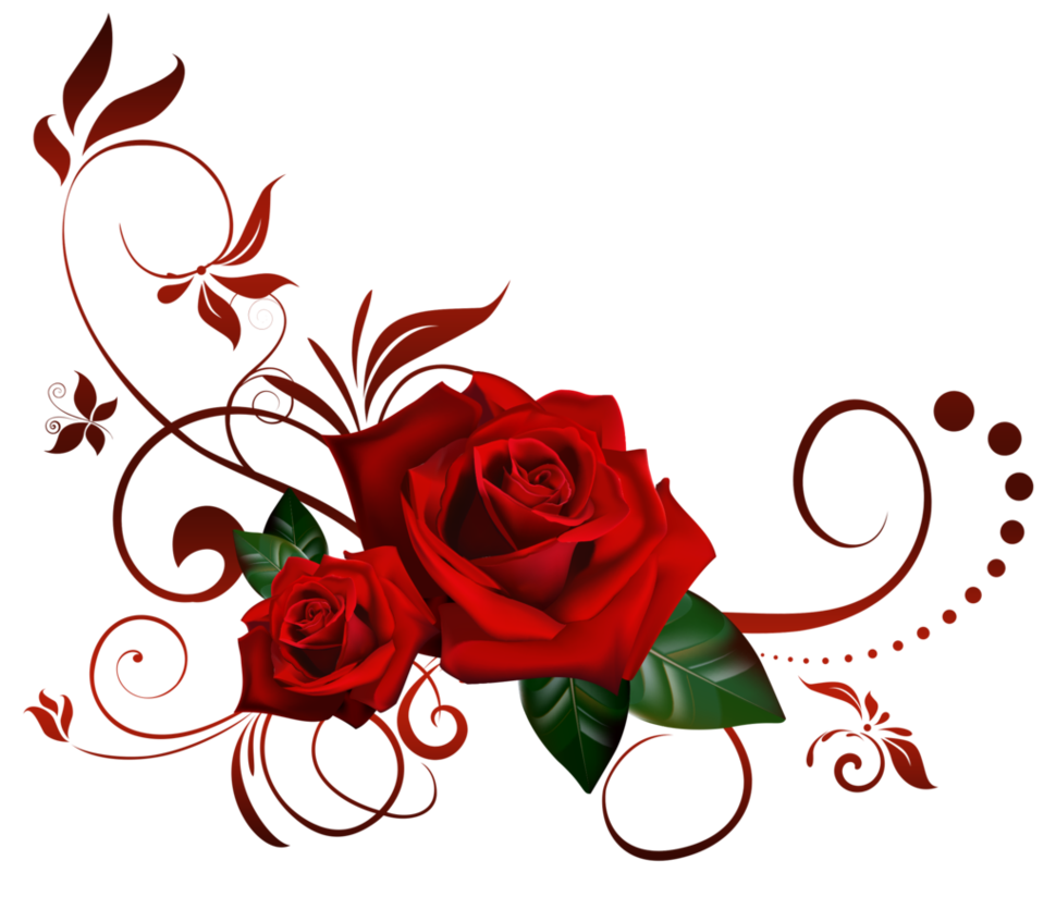 Fog clipart cute. Roses decor by lyotta