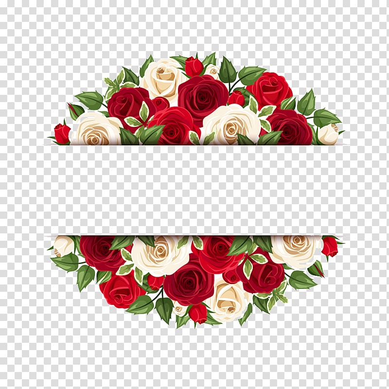 Red and yellow illustration. Clipart roses banner