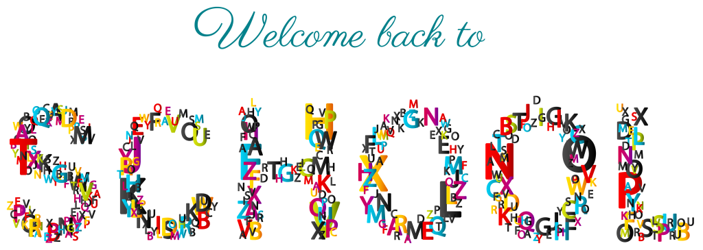 College clipart banner. Welcome back to school