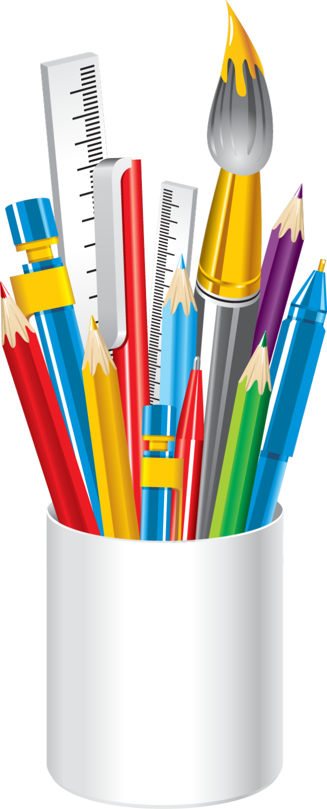 Markers clipart house painting supply. Web design development pinterest