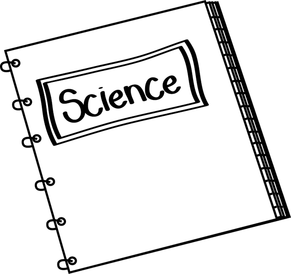 Science clip art black. Notebook clipart scince