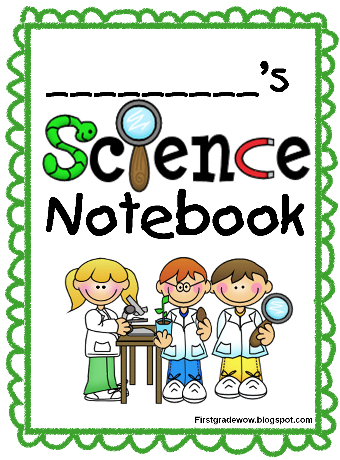 collection of science. Journal clipart notbook