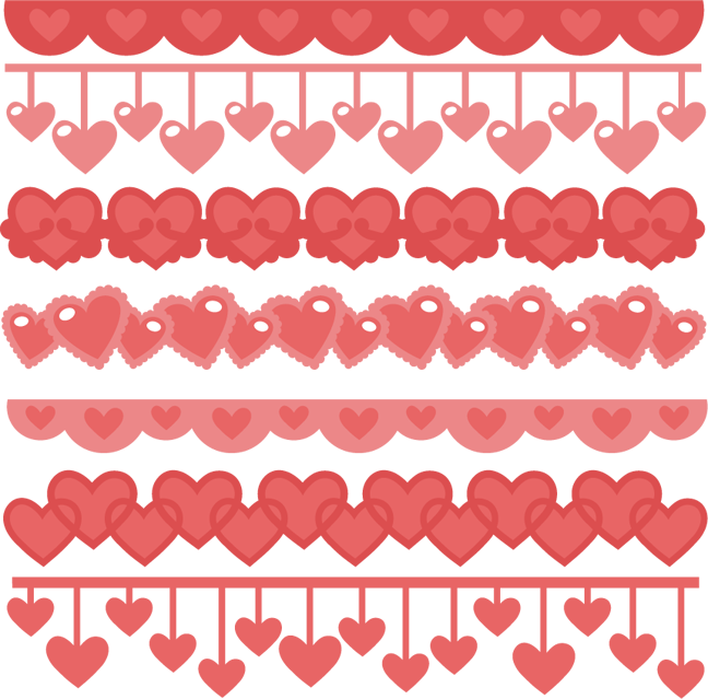 Heart border png. Borders svg cutting files