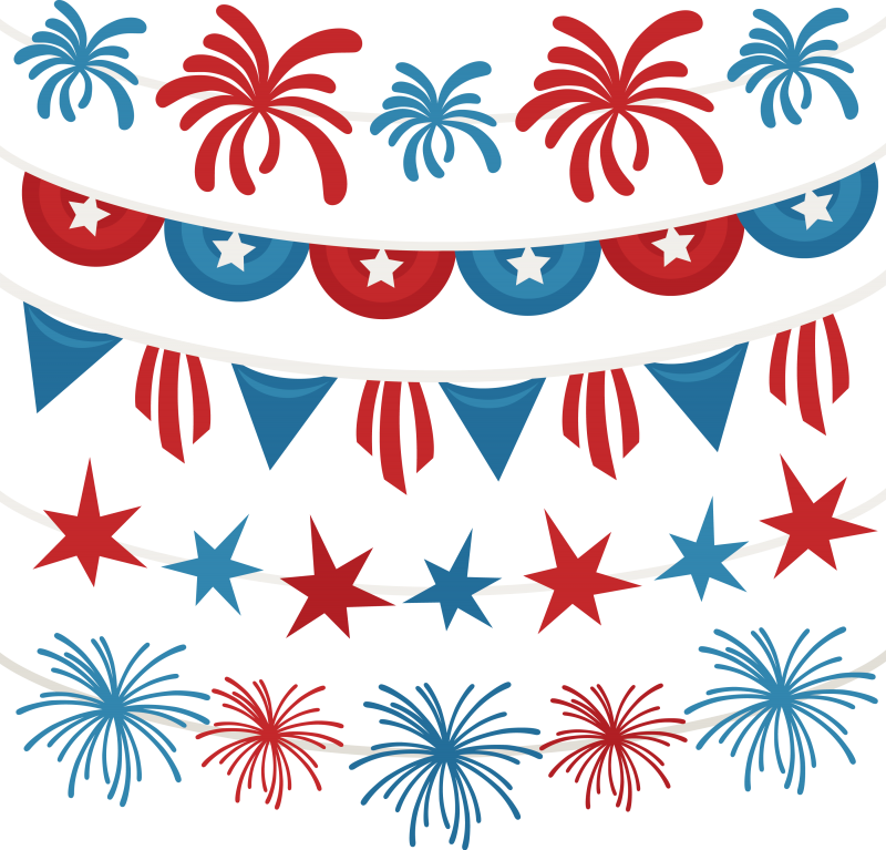 Clipart rocket july 4th.  th of banners