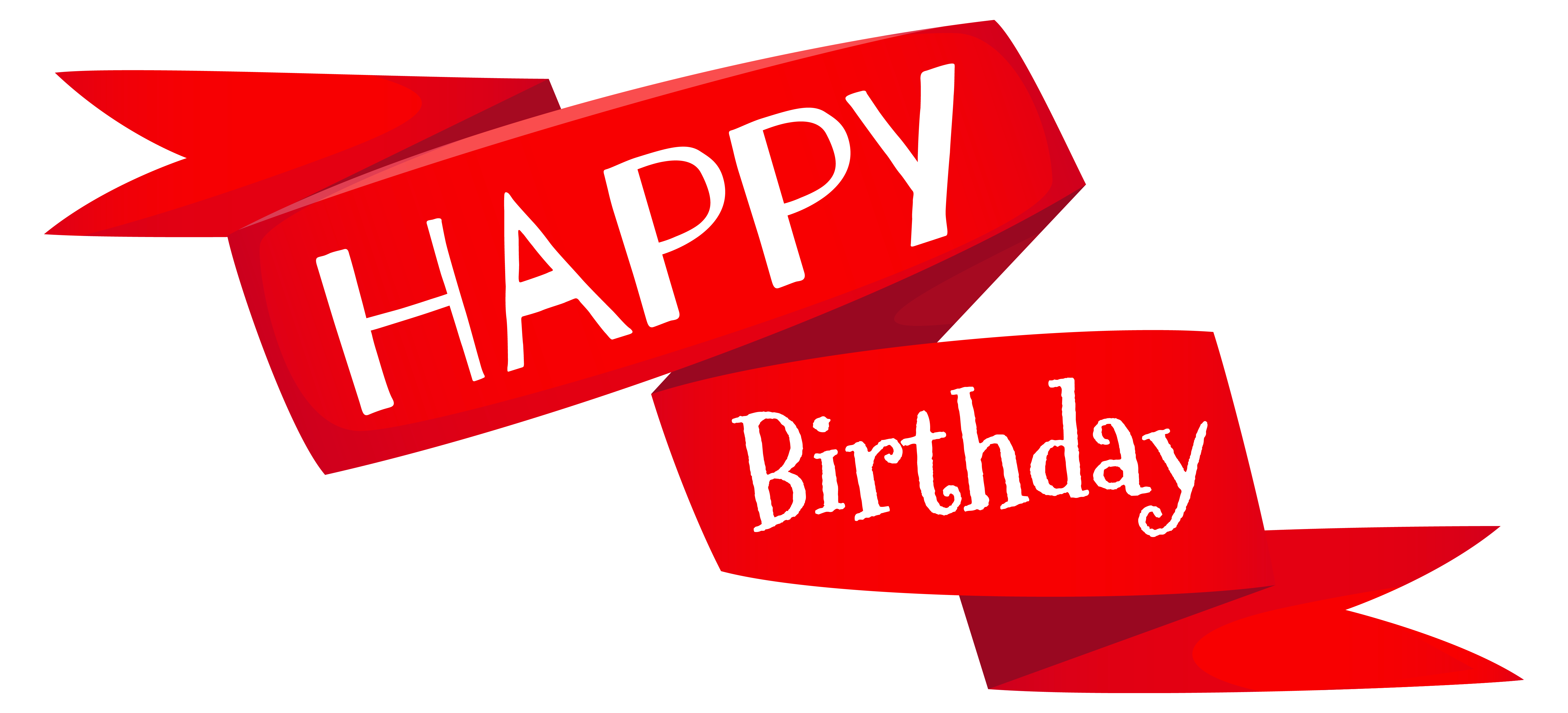 Red happy birthday banner. Mail clipart msg