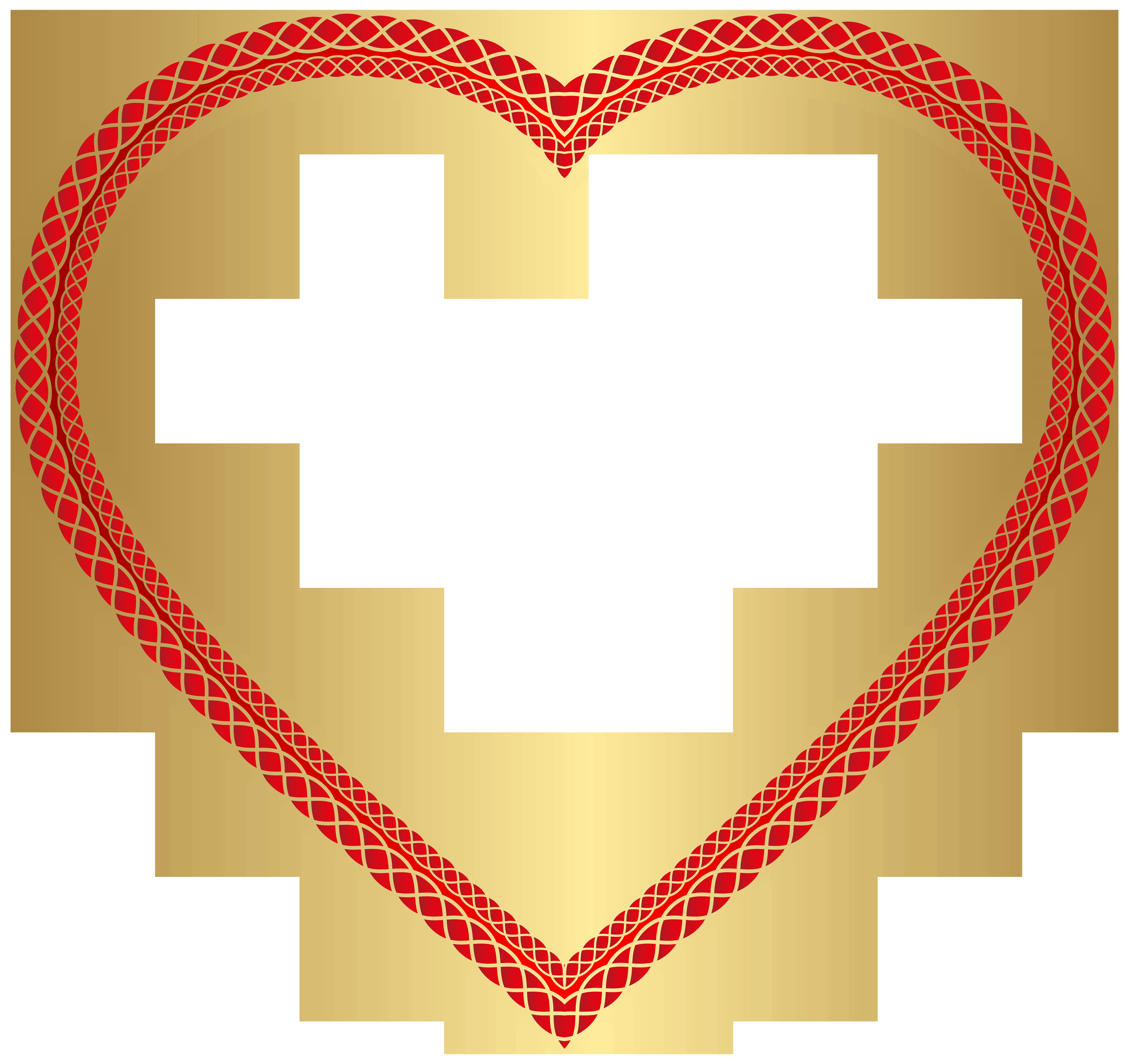 February clipart heart shape design. Transparent clip art image