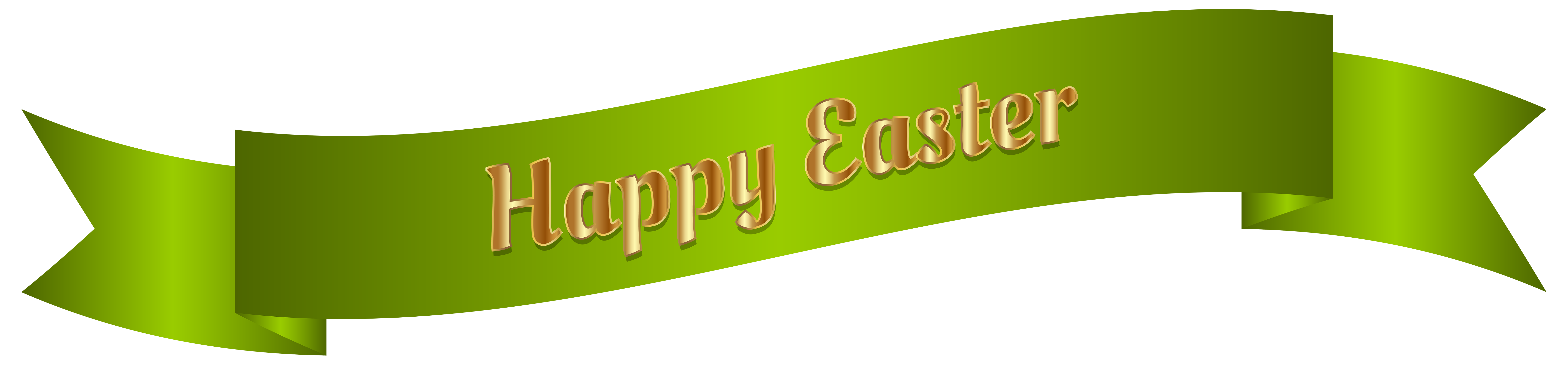 Green happy easter png. Clipart banner sign