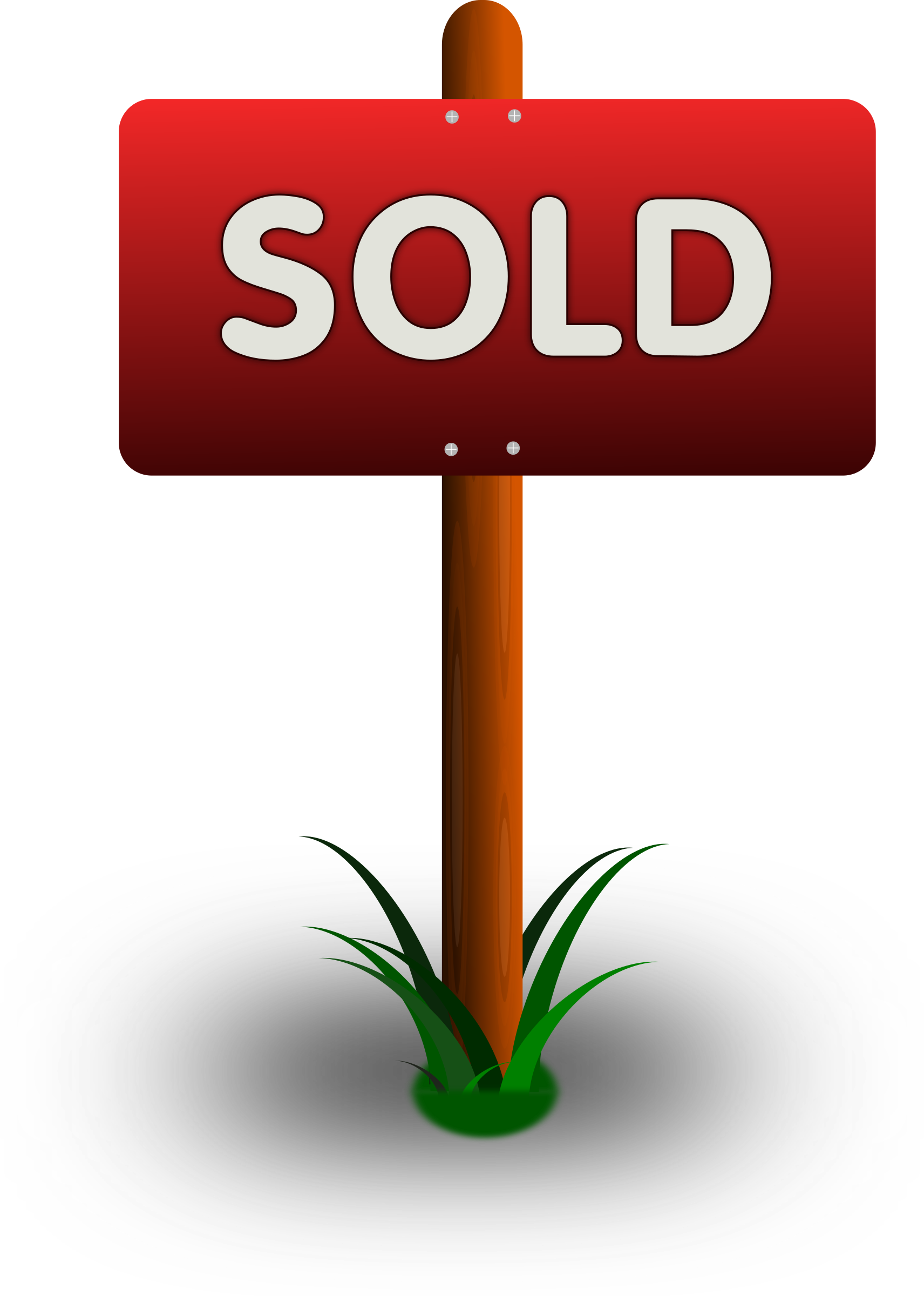 Sold big image png. Clipart banner sign
