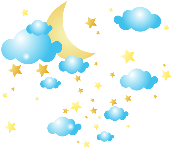 Moon and stars png. Clouds clipart chalkboard