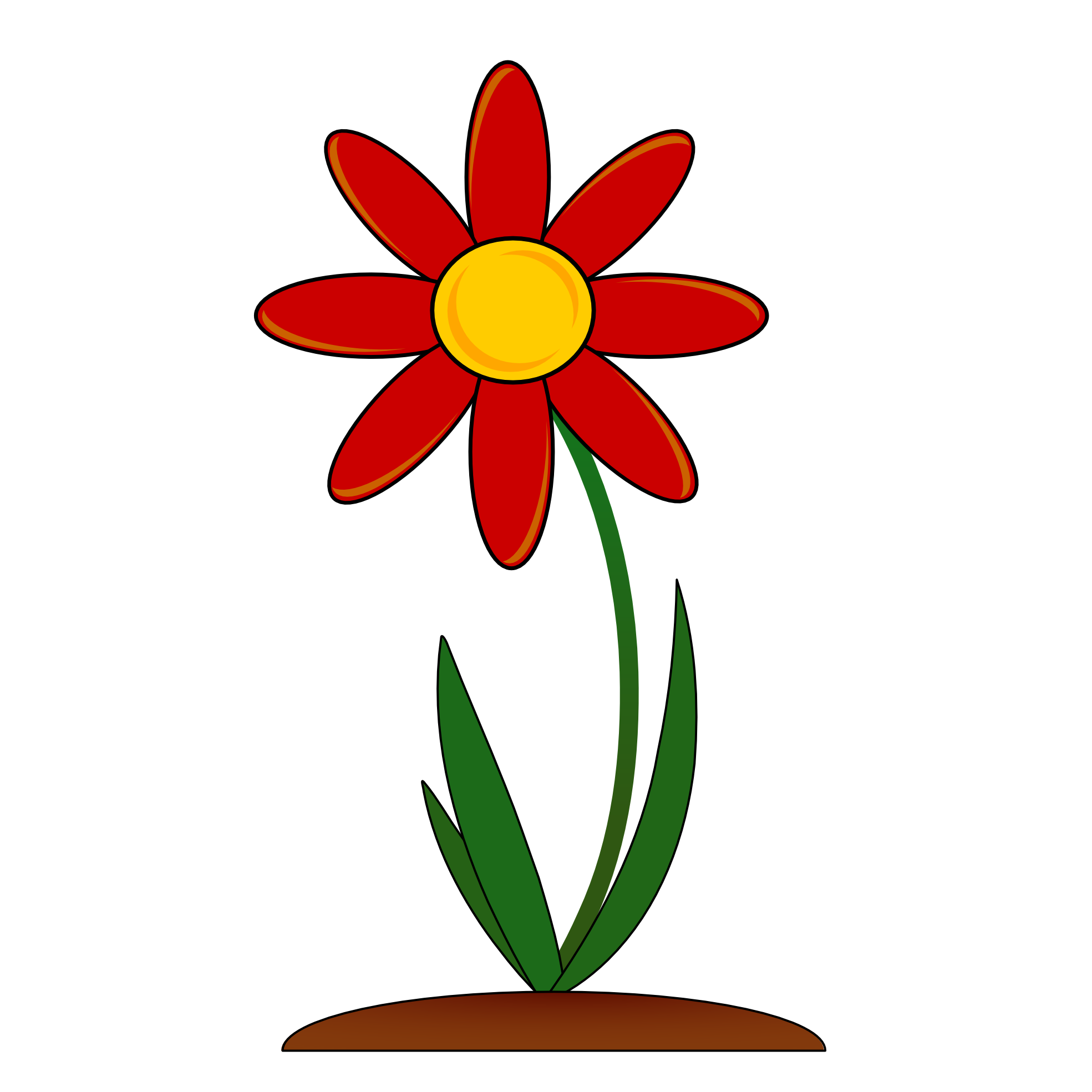 Poppy clipart solid flower. Heart at getdrawings com