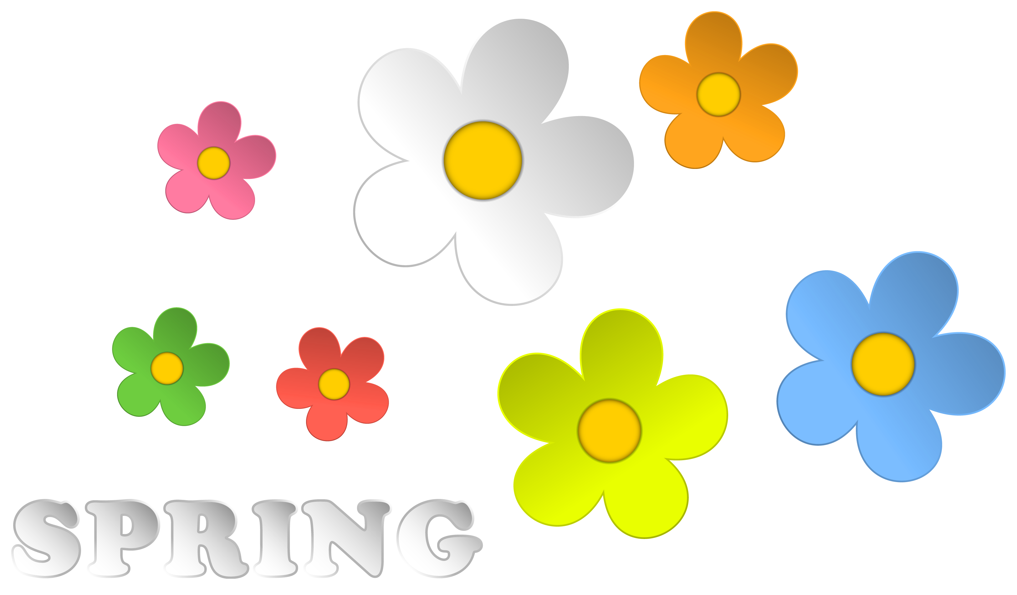 And flowers decor png. Picture clipart spring