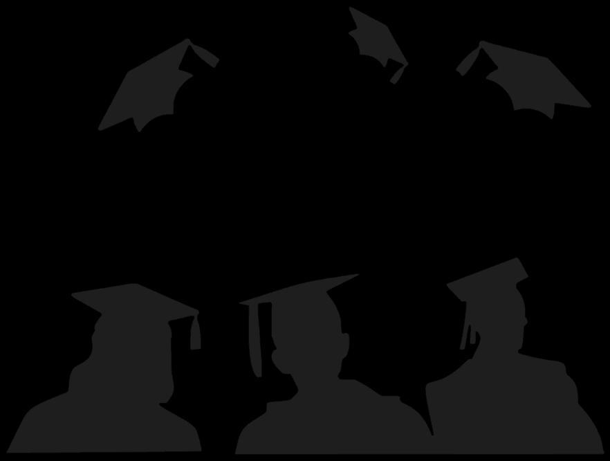 Diploma clipart convocation. Graduate silhouette clip art