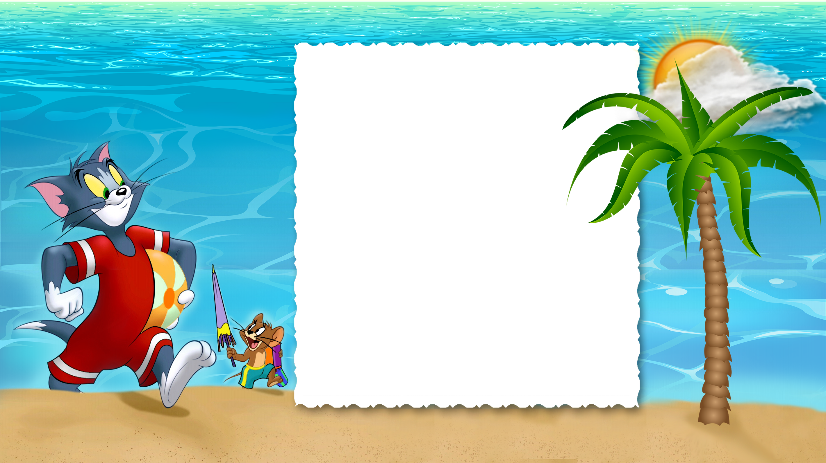 Tom and jerry kids. Summer border png