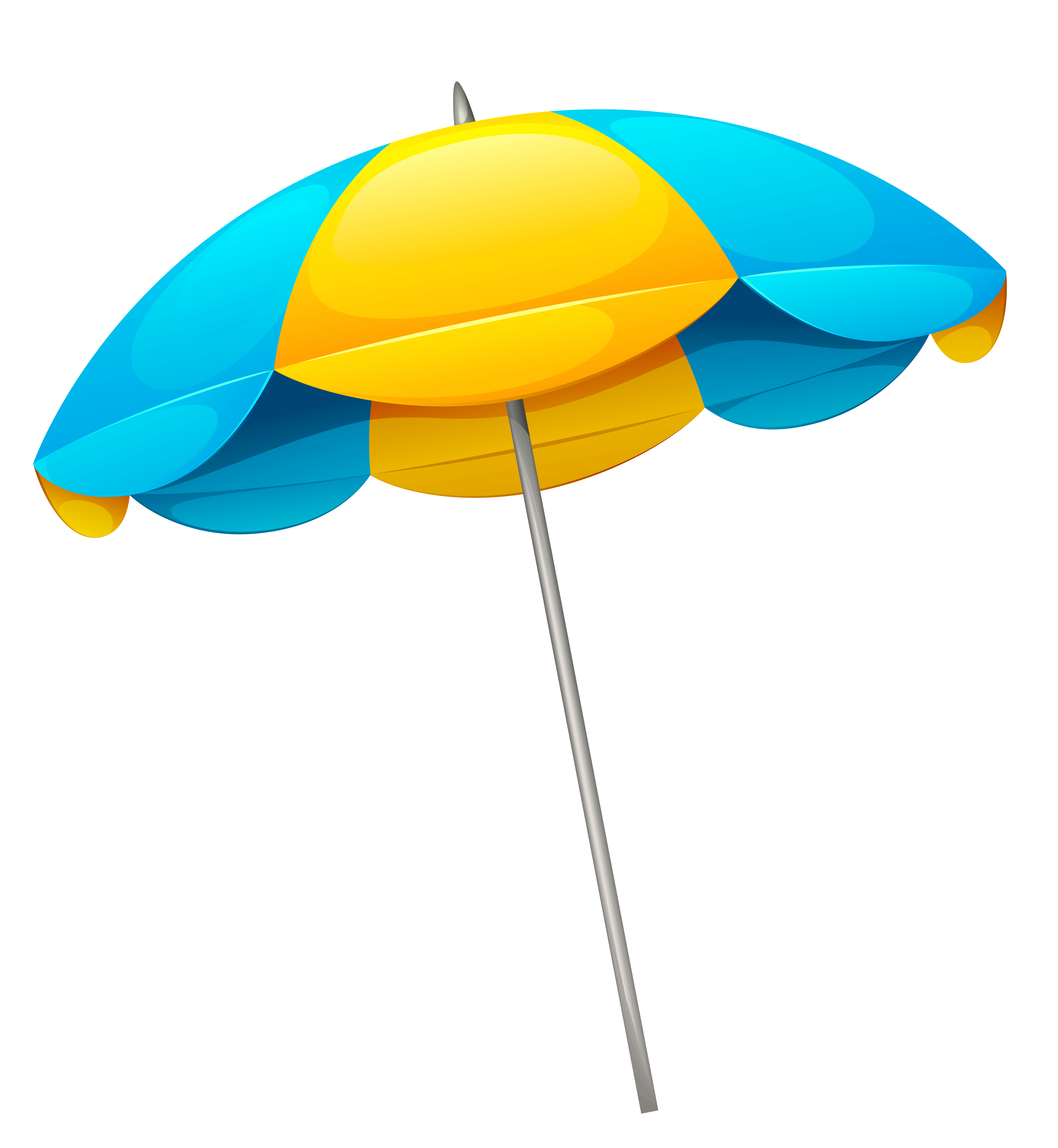 Beach png images. Yellow blue umbrella clipart