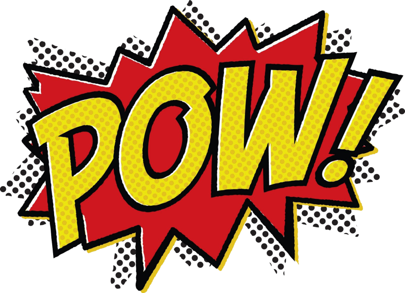 Words clipart design.  collection of superhero