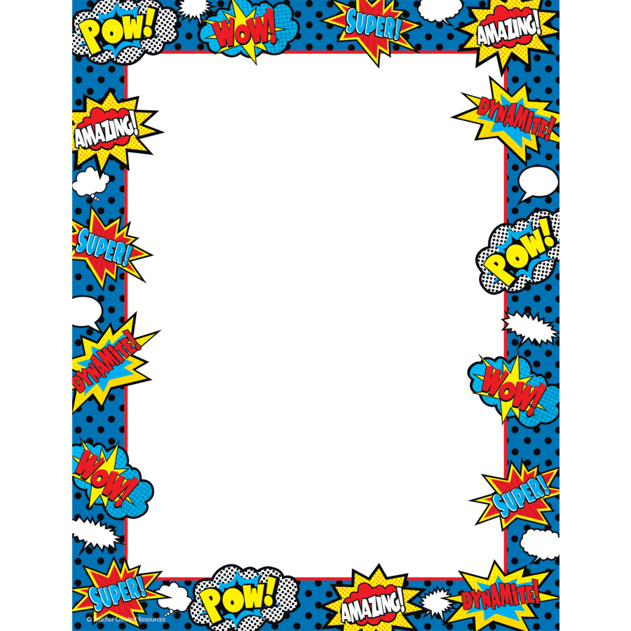 collection of border. Frames clipart superhero