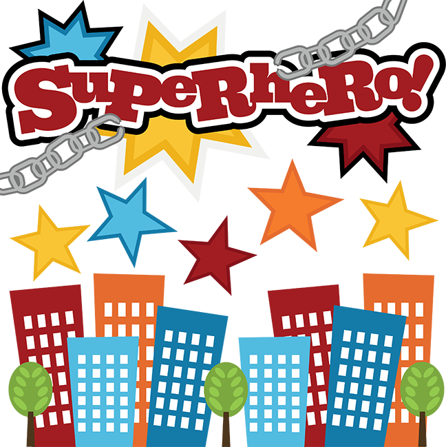 Superheroes clipart cute. Superhero svg files for