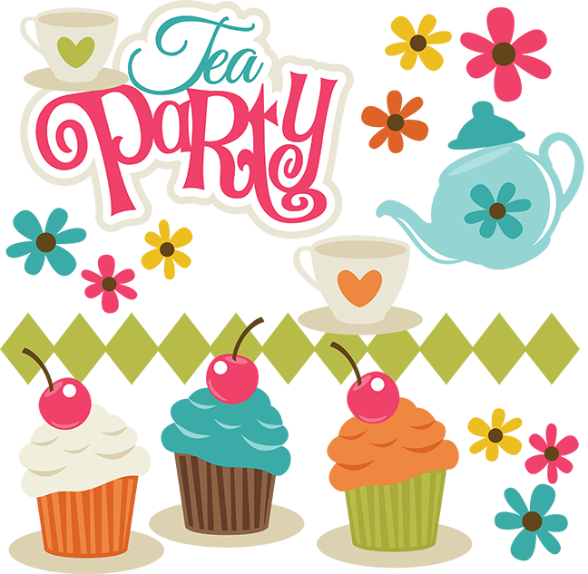 Making png files. Tea party svg scrapbook