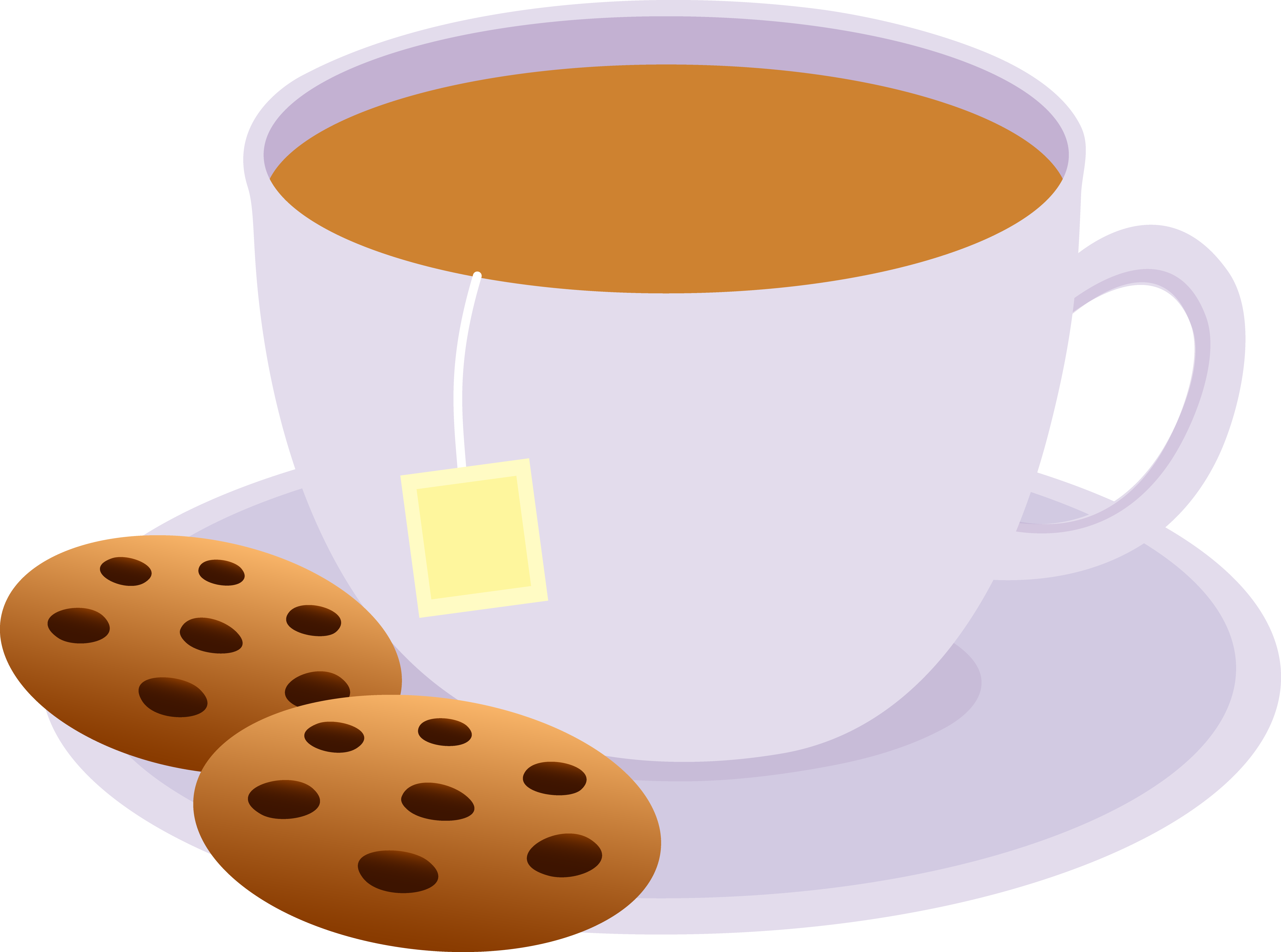 Tea and cookies clip. Winter clipart cookie