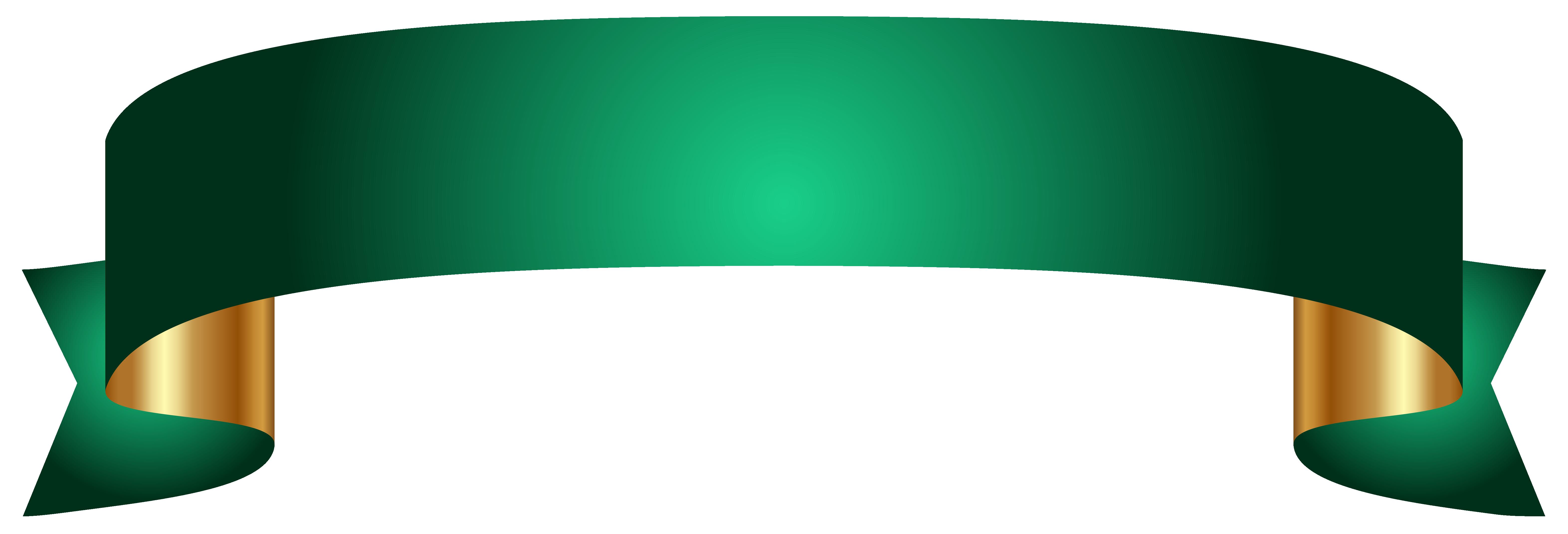 Transparent png images. Green banner clip art