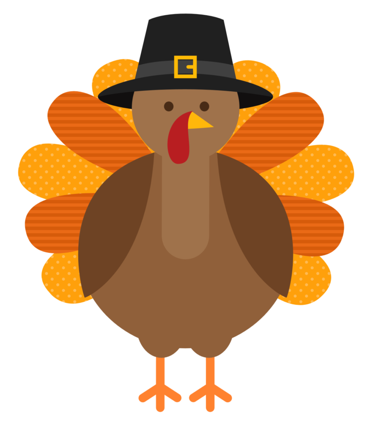 Happy free black and. Clipart birthday thanksgiving