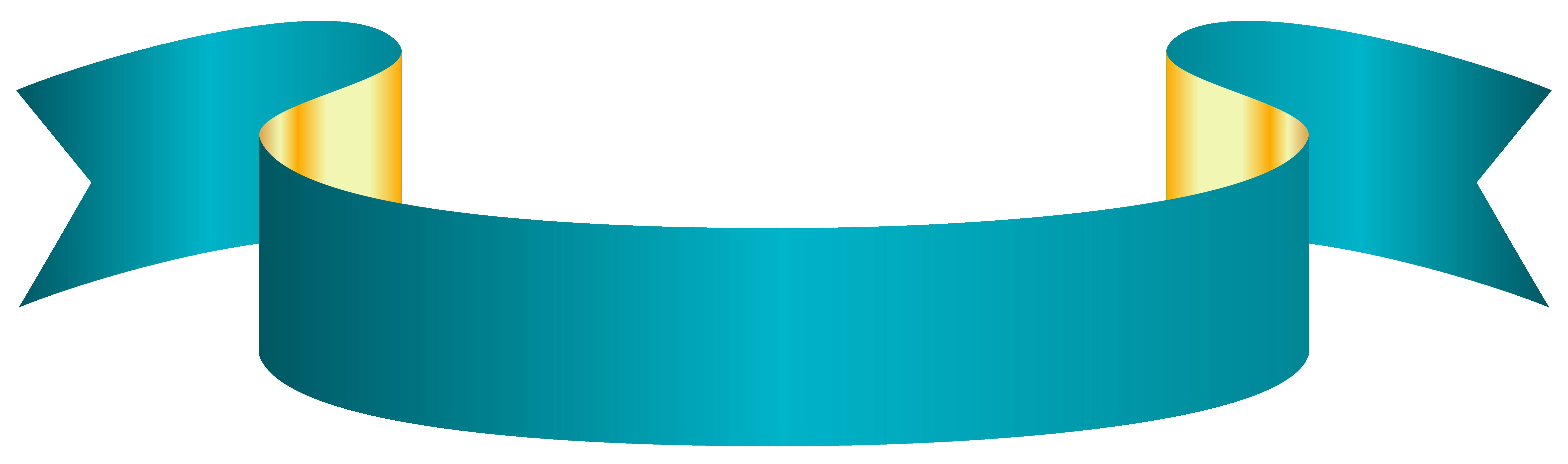 Streamers clipart light blue. Banner transparent png clip