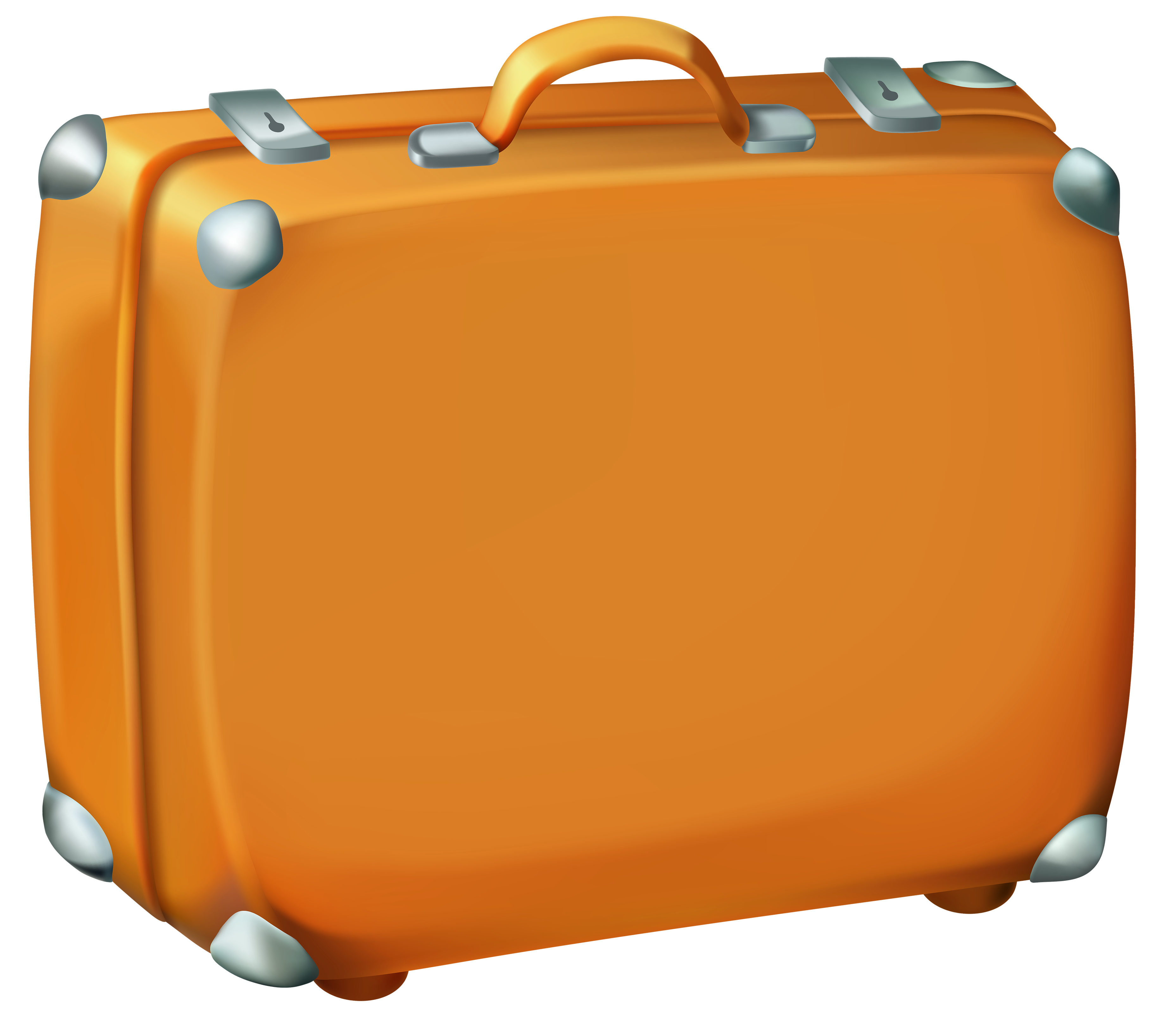 Brown suitcase image gallery. Stamp clipart luggage