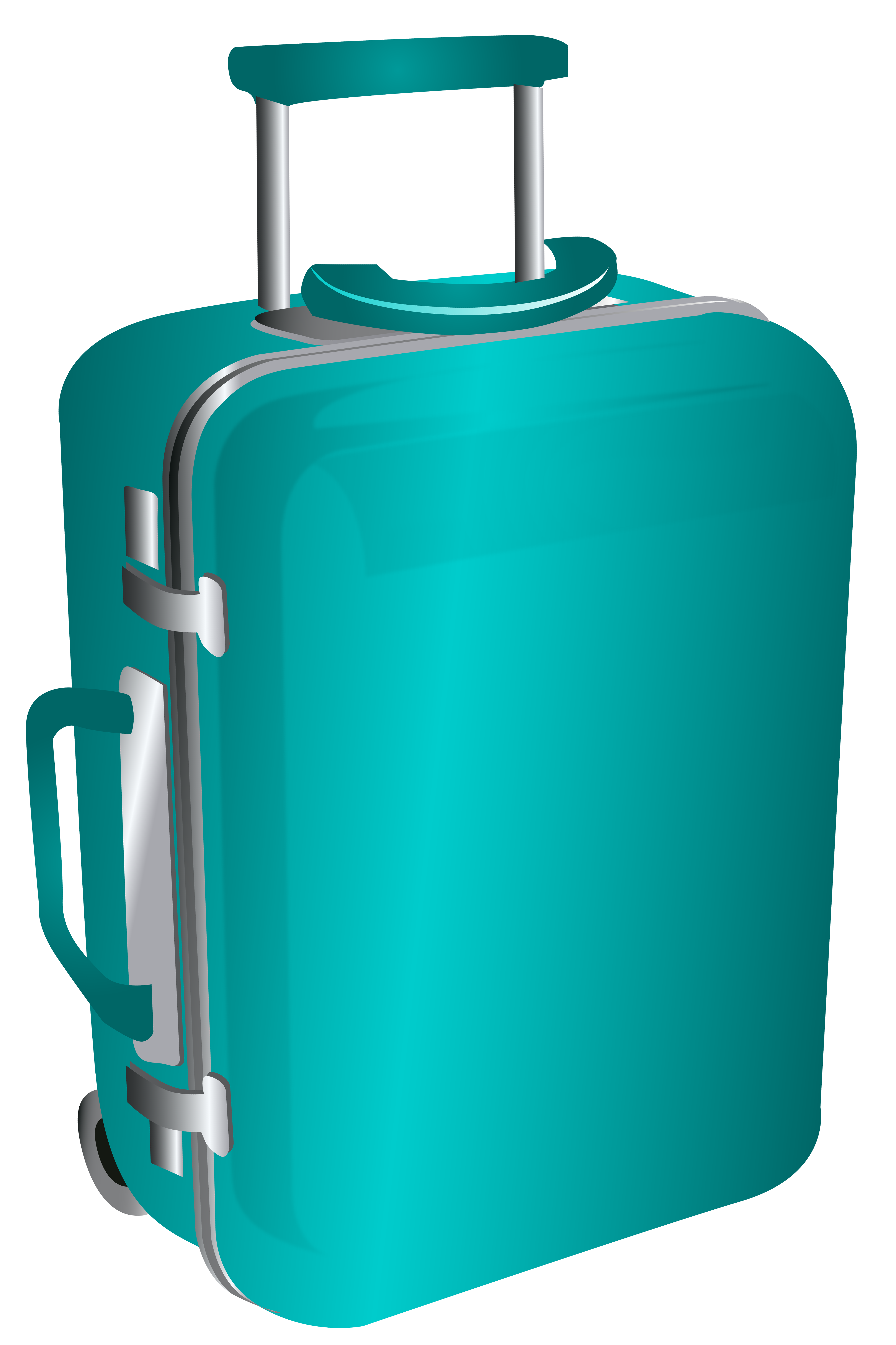 Blue trolley png image. Luggage clipart travel bag