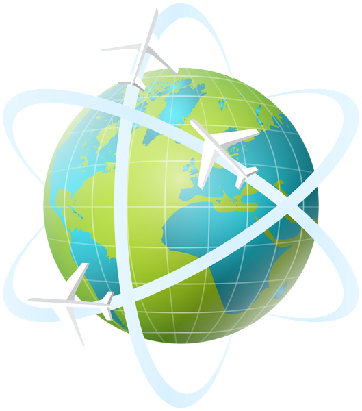 World transparent png clip. Clipart earth travel