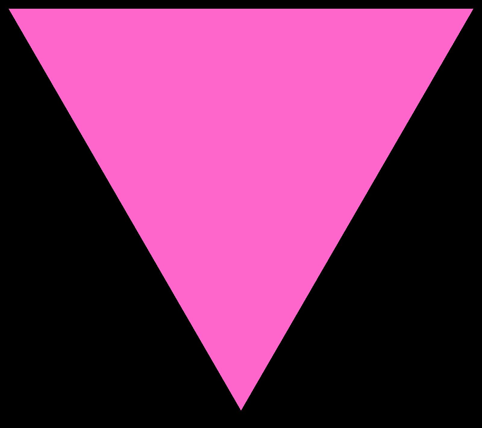triangular clipart pink triangle