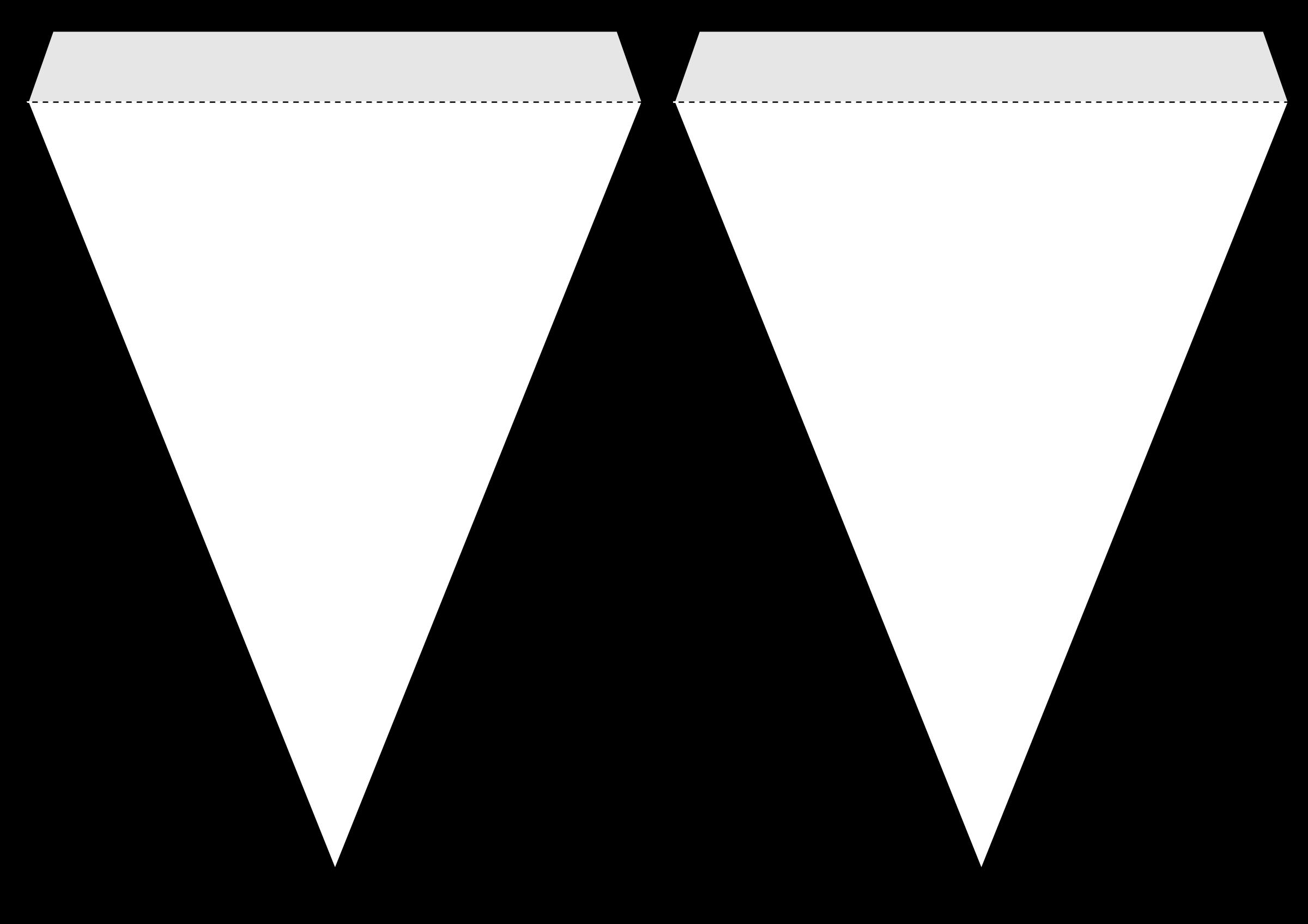 Triangle banner template big. Triangular clipart pennant