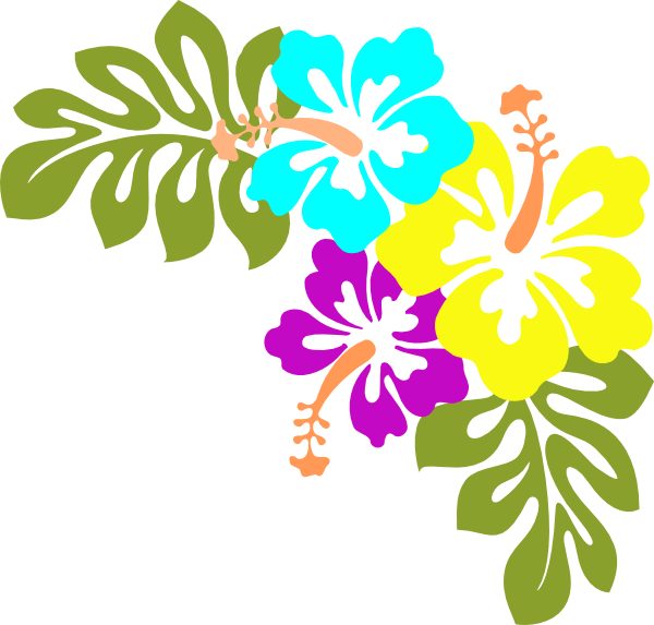 collection of free. Flower clipart tropical