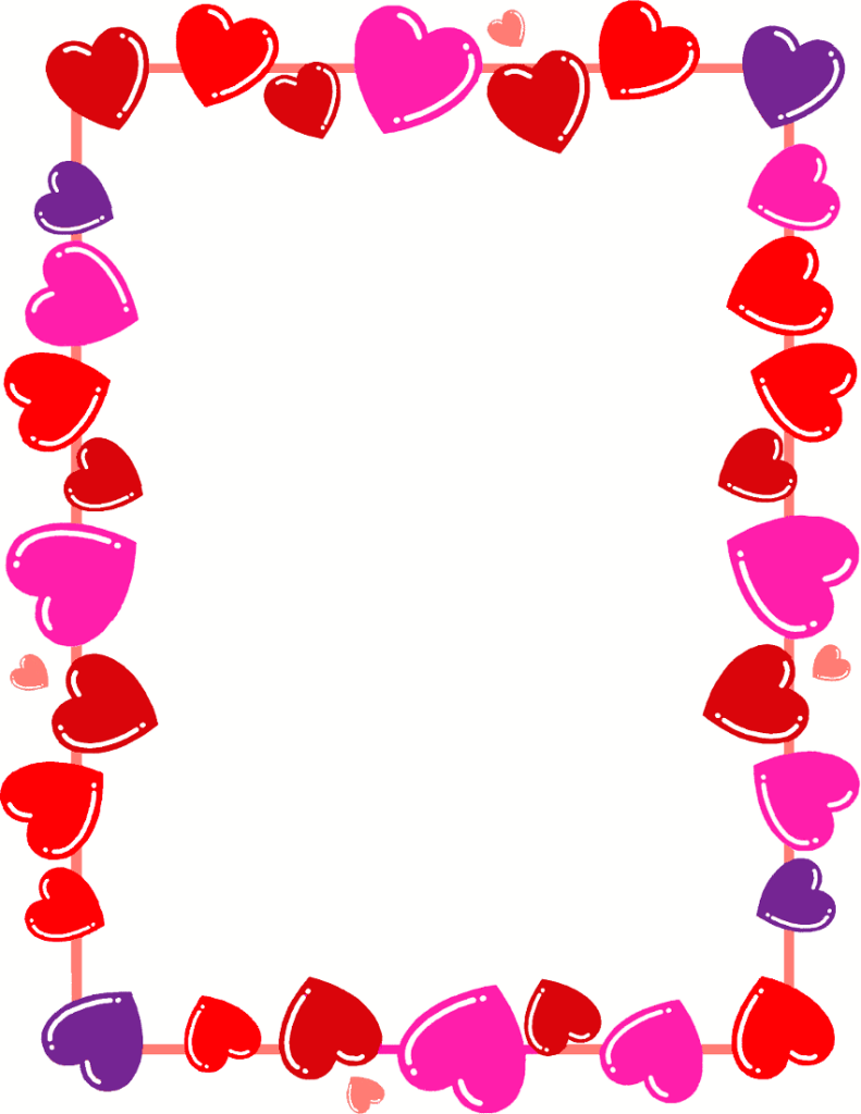 Background . Valentine clipart borders