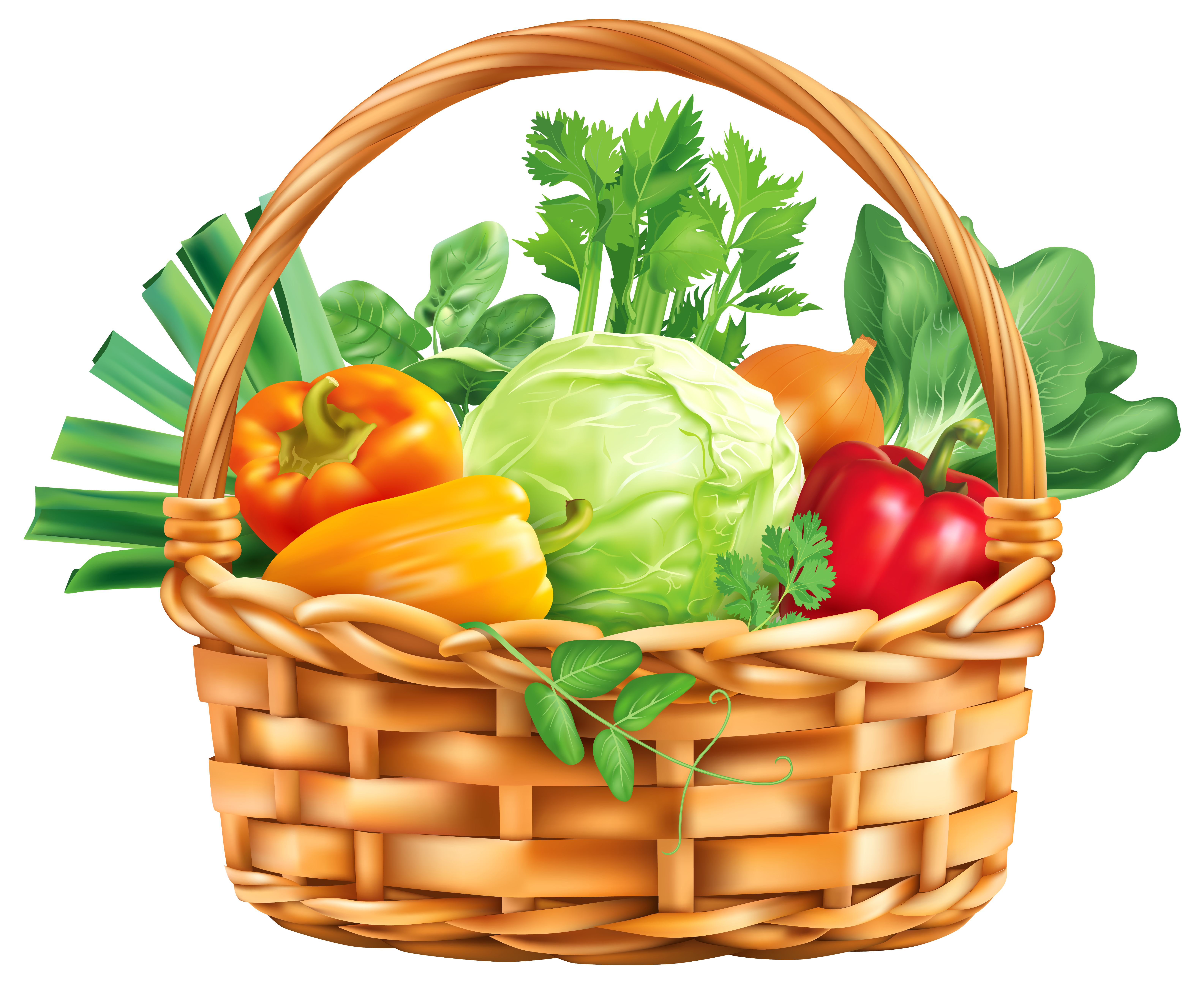 Clipart vegetables wallpaper. Vegitable basket png image