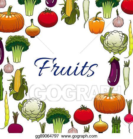 Vector stock vegetable of. Clipart vegetables banner