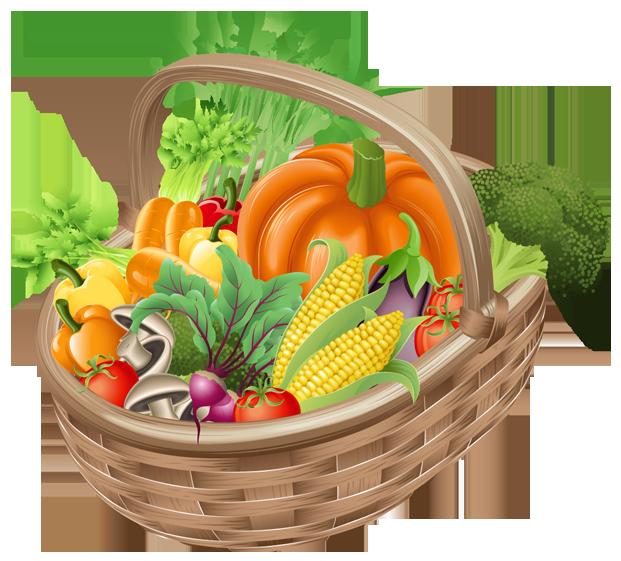 Frame clipart vegetable. Basket with vegetables png