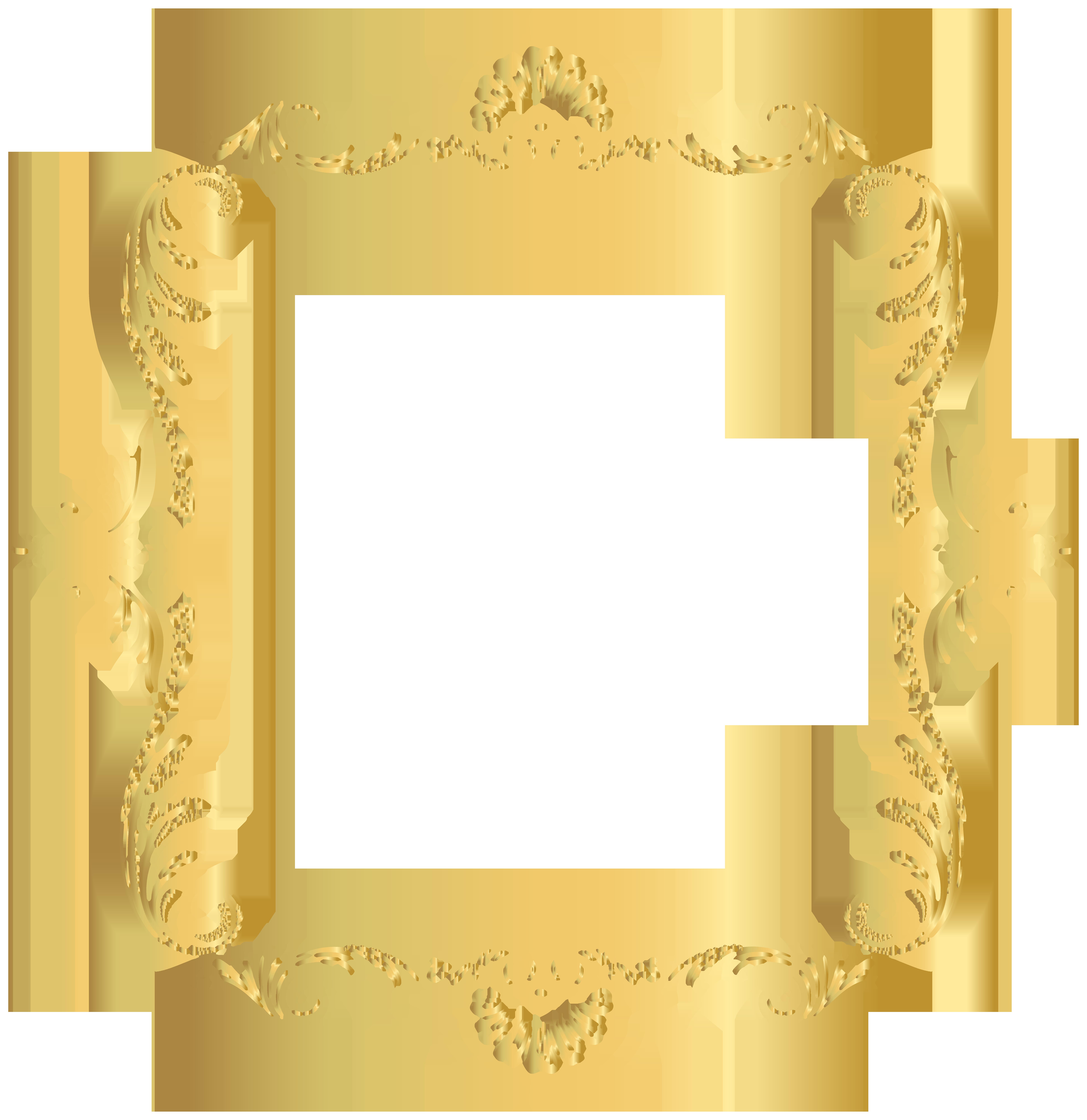 Vintage border png. Frame gold clip art