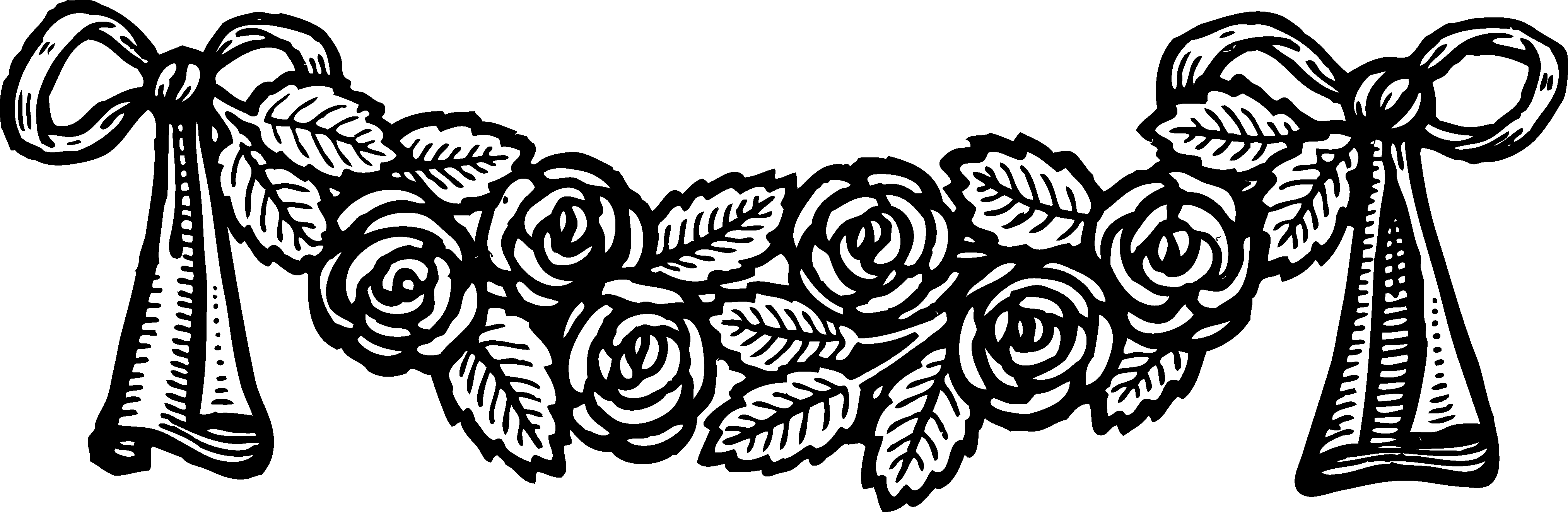 Clipart rose banner. Vintage roses decoration free