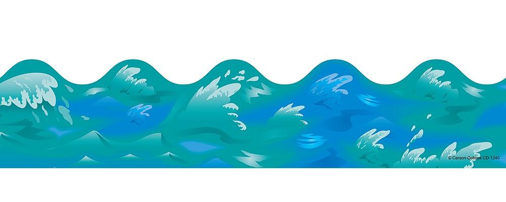 Free wave border cliparts. Ocean clipart ocean water