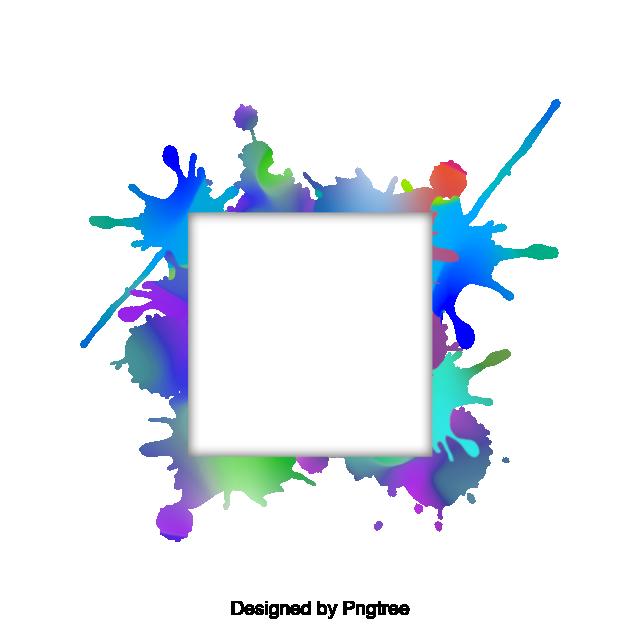 Border vector album png. Clipart fireworks watercolor