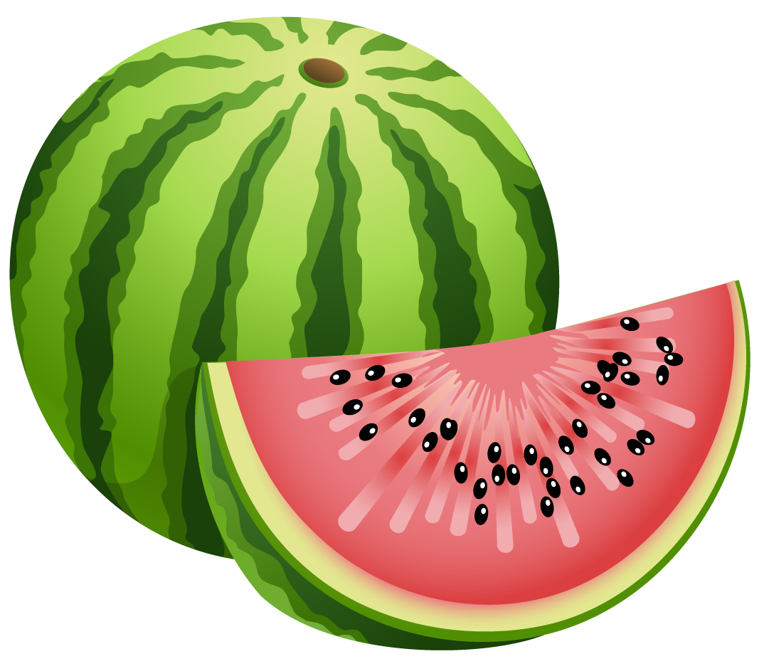 Heart clipart watermelon. Large painted png gallery