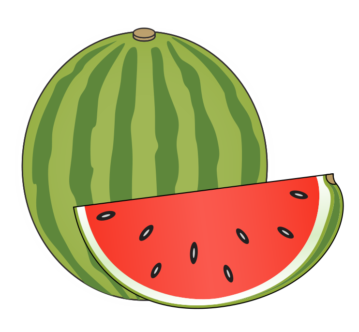 Watermelon . Clipart tent triangle object