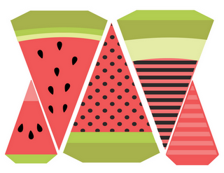 Printables birthday . Watermelon clipart banner