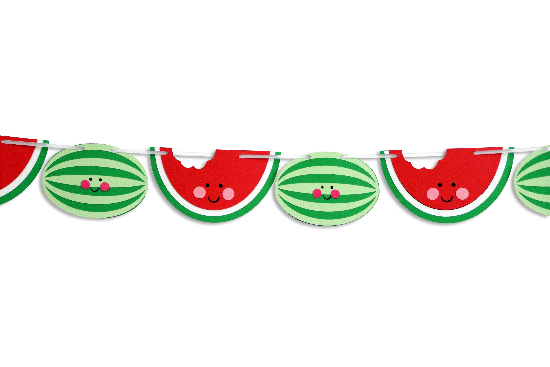 Summer . Watermelon clipart banner