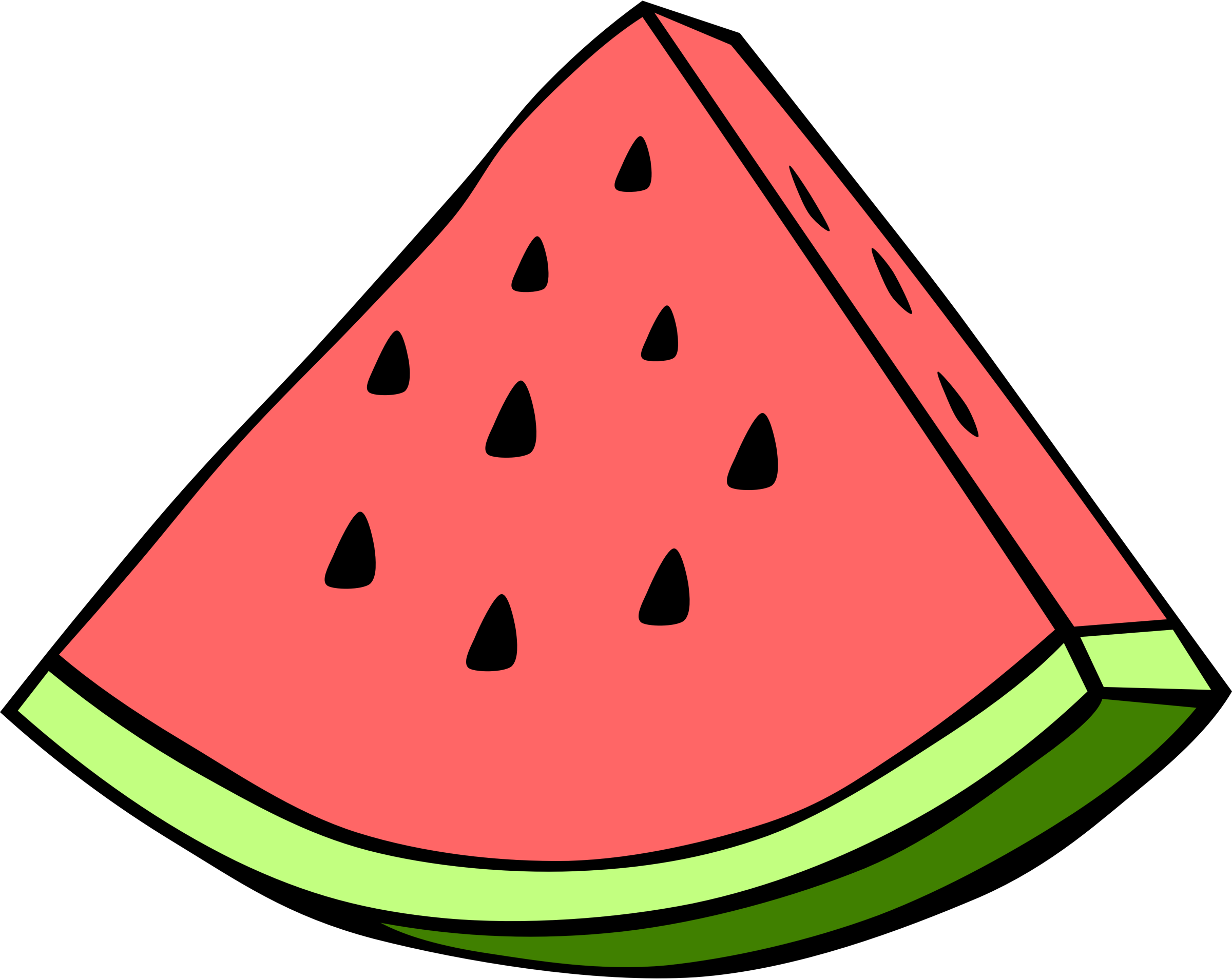 Simple fruit watermelon by. Egg clipart slice