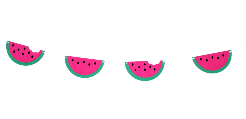 Watermelon clipart banner. Party decor