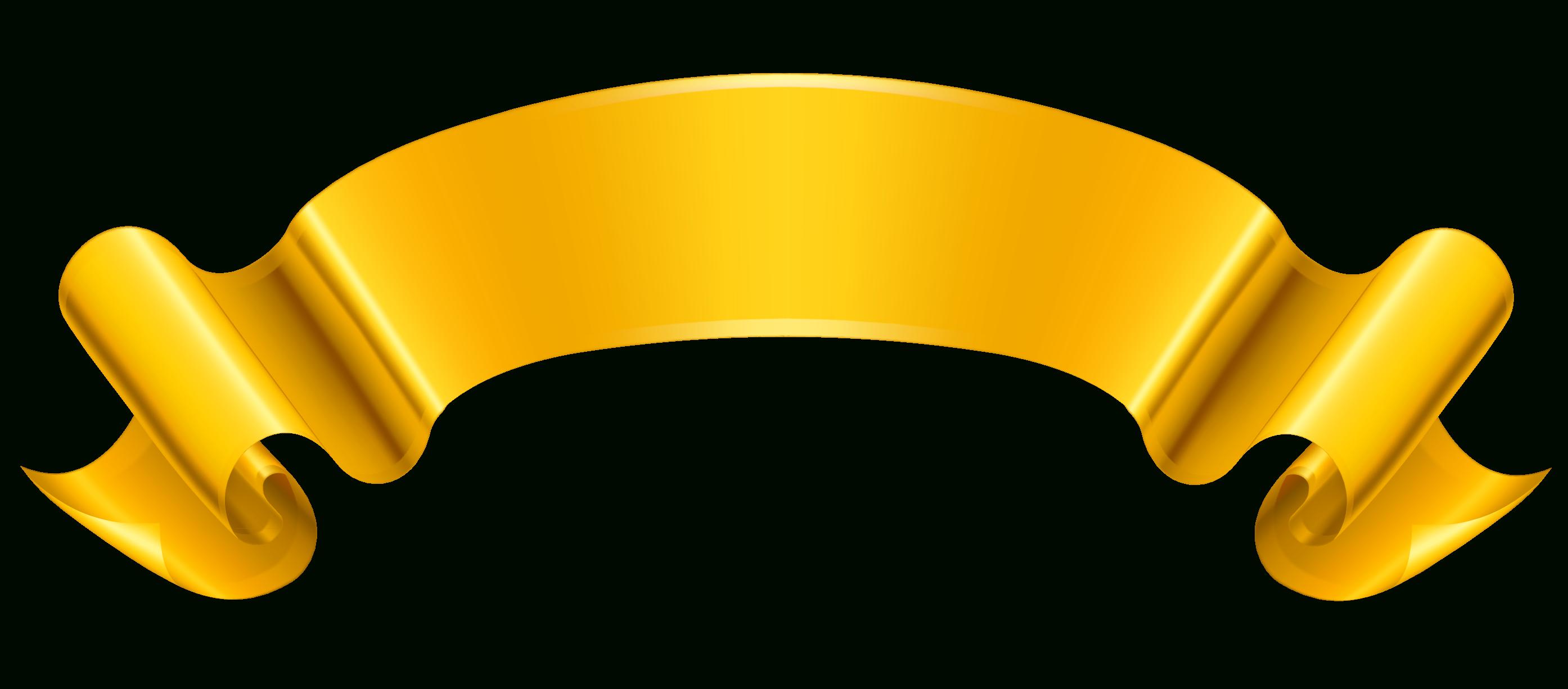 Clipart banner yellow ribbon. Gold clip art cyberuse