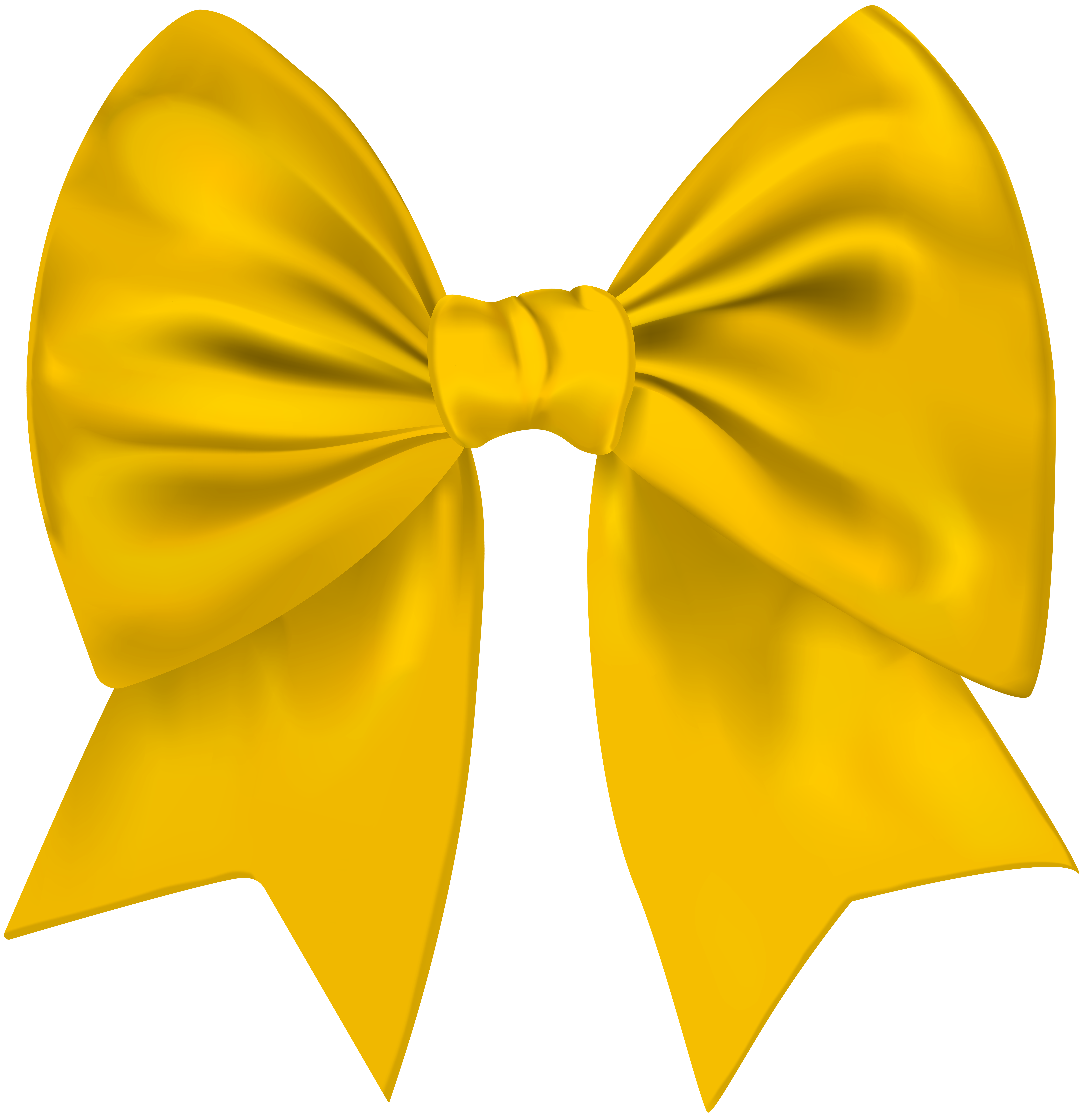 Bow transparent png image. Clipart banner yellow ribbon