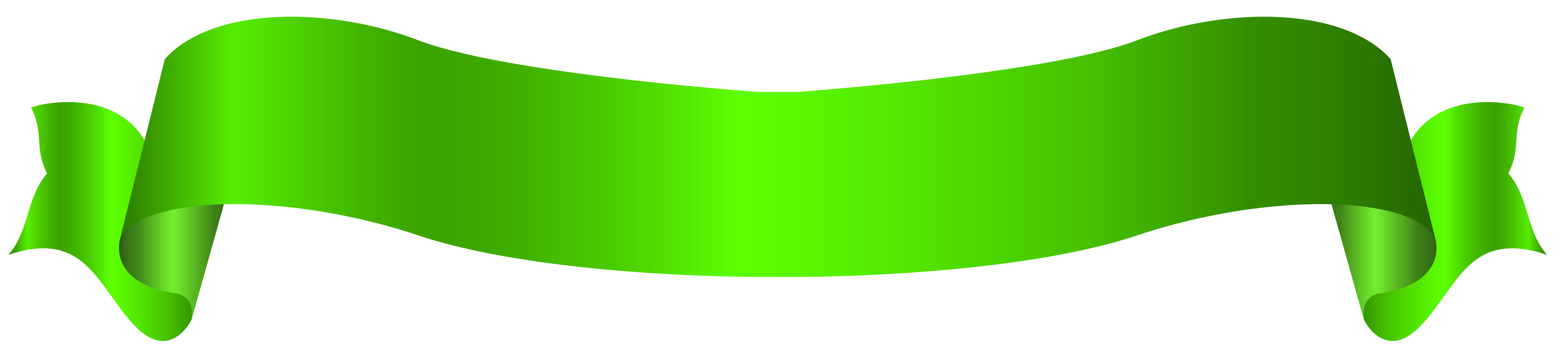 Long green png transparent. Clipart banner yellow ribbon